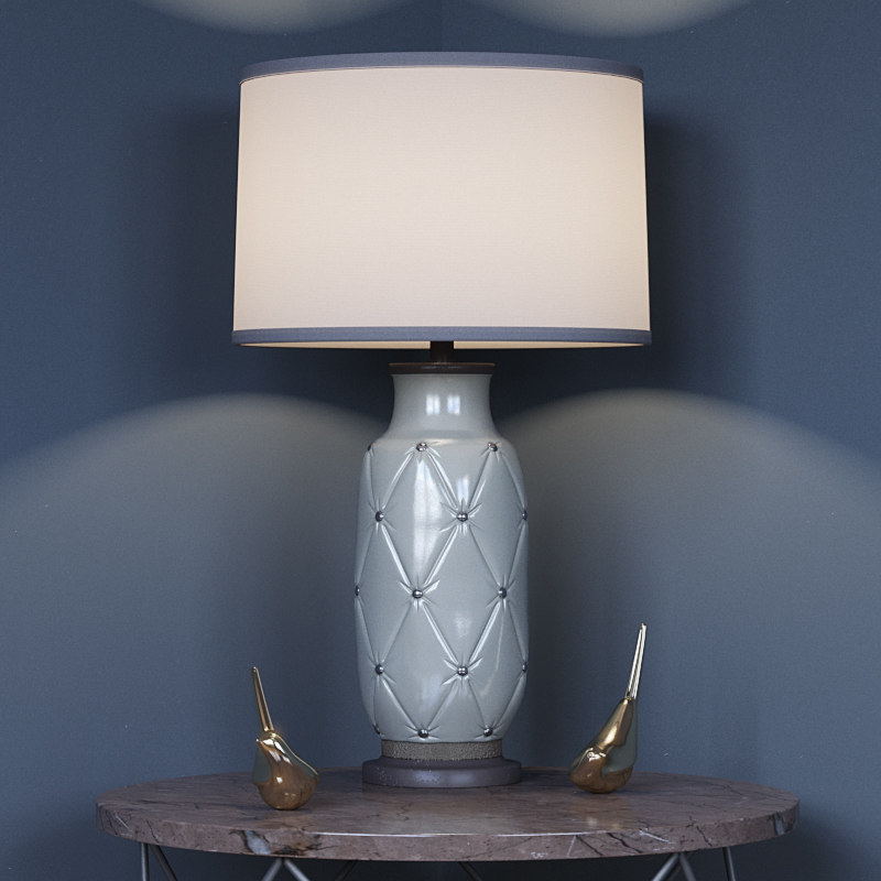 3d couplet table lamp model