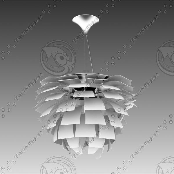 iluminacin artichoke lamp 3d max