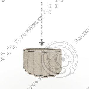 3d model luminaria wave techo