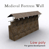 Medieval fortress wall
