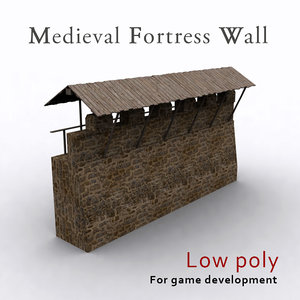 medieval fortress wall x