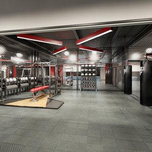 3d gym room - model