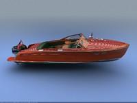 max mahogany wooden boat