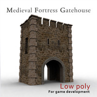 Medieval fortress gatehouse