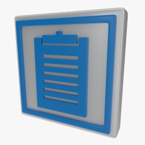 3d icon clipboard