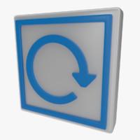 3d icon rewind