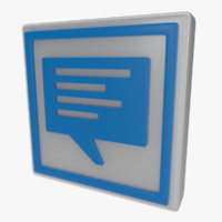 3d model icon speech bubble