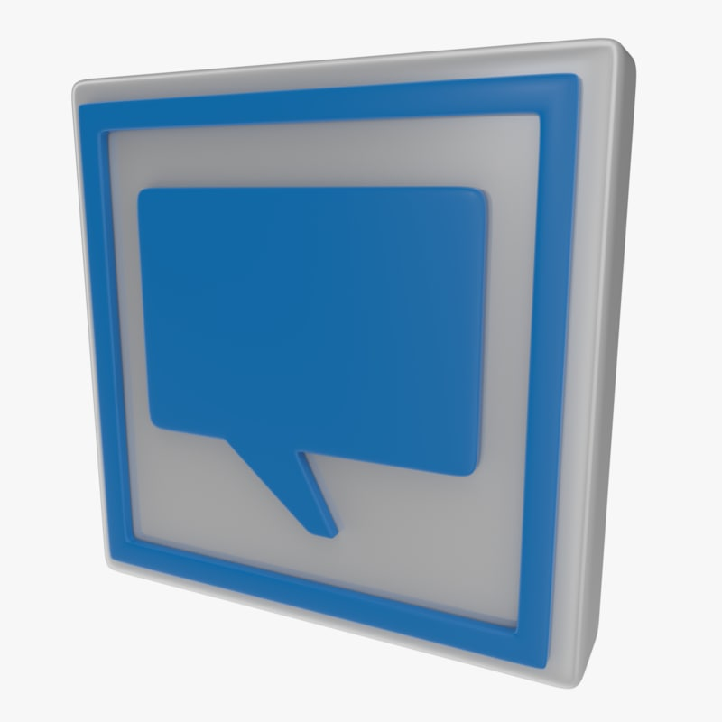 3d model of icon speech bubble