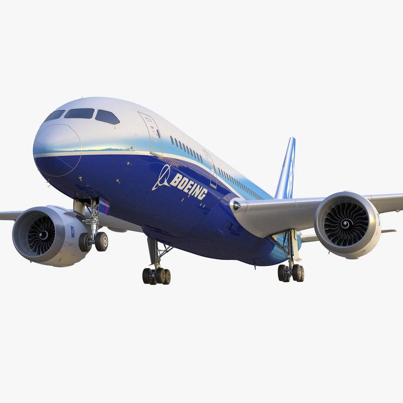 boeing 787 dreamliner 3d model