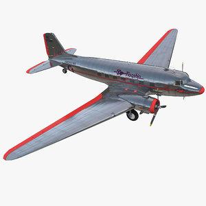 3d douglas dc-3 american airlines