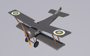 3d c4d hanriot airplane
