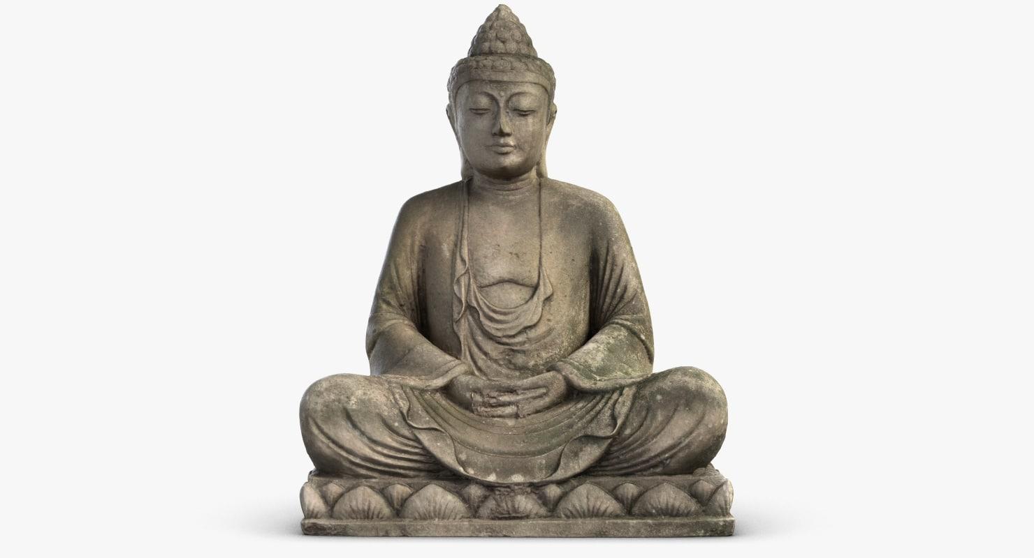 small monk statuette 2 max