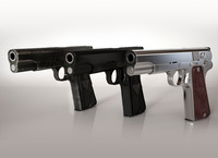 3d model vis w35 gun high-detailed