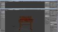 bilbos desk 3d blend
