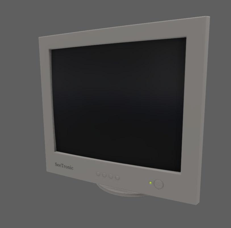 crt monitor 3d x