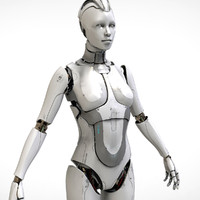 cyborg sci-fi robot 3d model