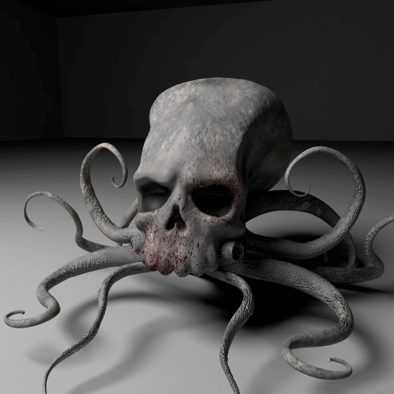 3d model octopus monster