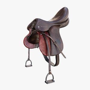 3d horse saddle