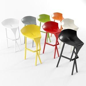 3d model stool shiver gaber