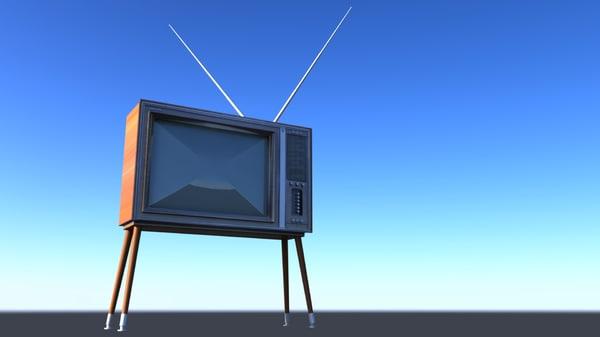 3d model tv 60s