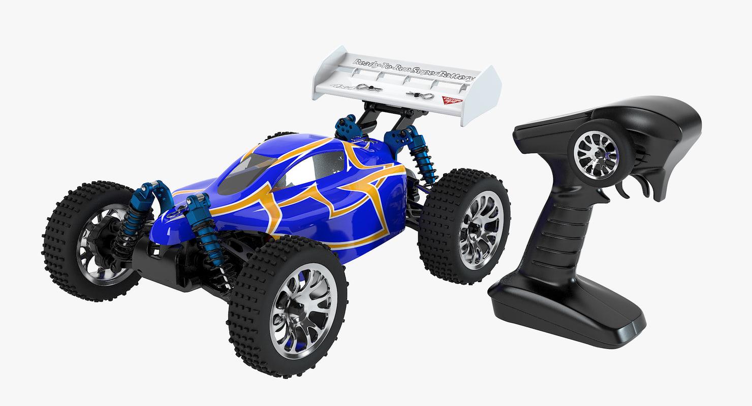 3d buggy car control set model