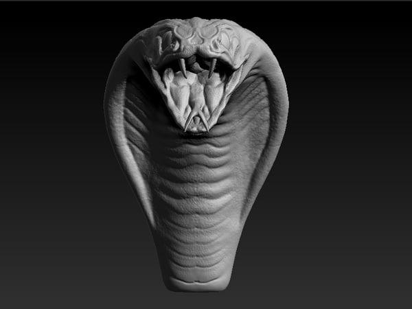3d model cobra head
