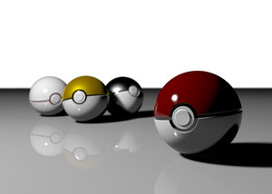 pokeballs series pokemon 3d ma