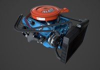 3d model mopar engine