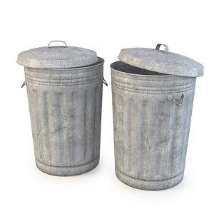 3d garbage bin model