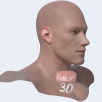 male head human c4d