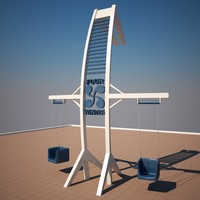 3d model of playground children