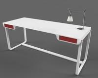 high concept desk design 3ds Max Model