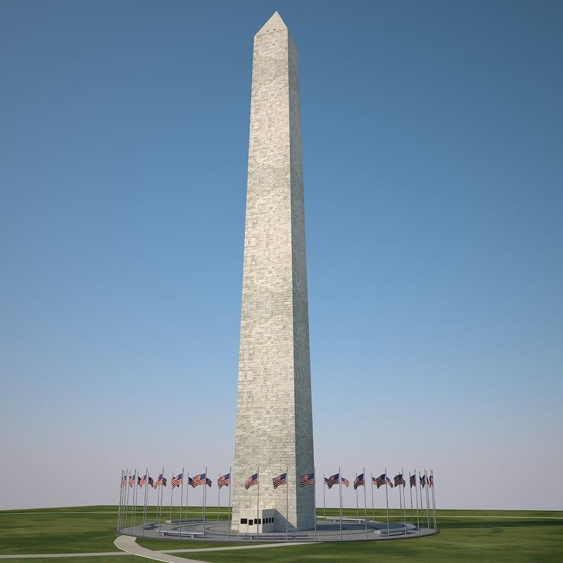 3d model washington monument