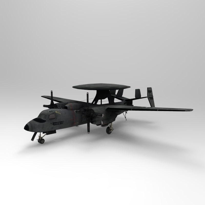 e2c hawkeye 3d model