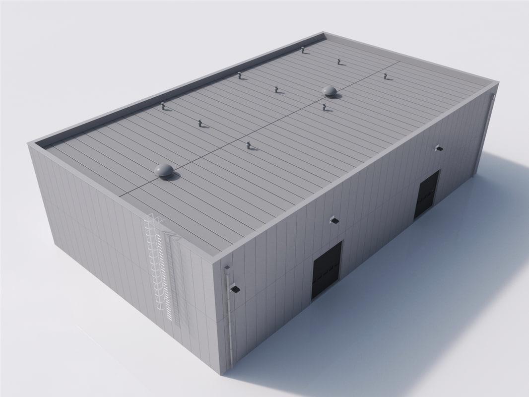 3d model industrial building