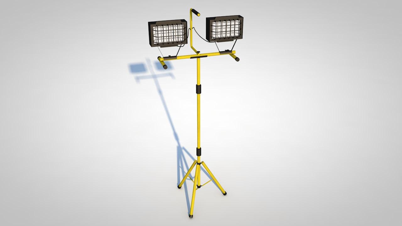 3d halogen work light model