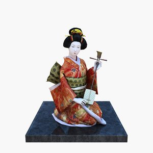japanese doll obj
