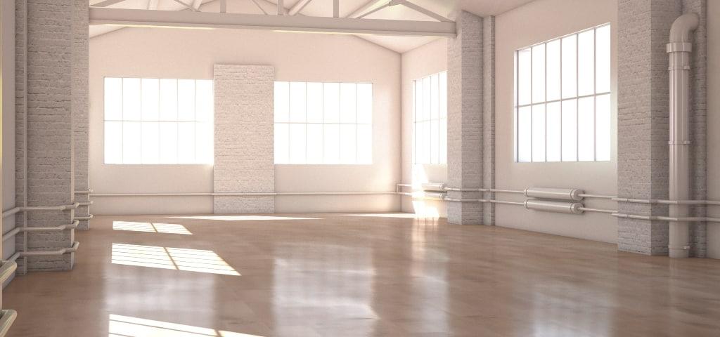 3d studio render setting model