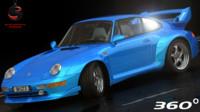 3d model porsche 911 gt2 1994