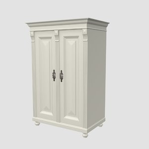 antique cabinet obj