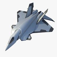concept jet aircraft 3d ma