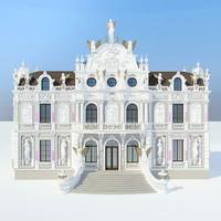 3d model baroque villa