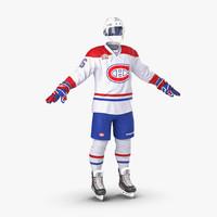 3ds hockey equipment montreal canadiens
