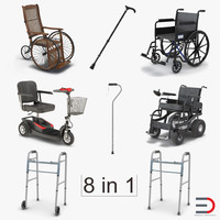 Mobility Aids 3D Models Collection 2