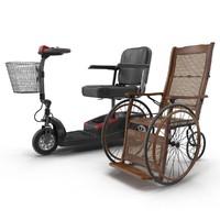 mobility aids 2 cane 3d model