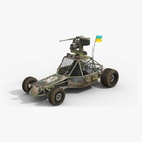 military buggy 3d model