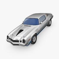 3d chevrolet camaro z28 1979