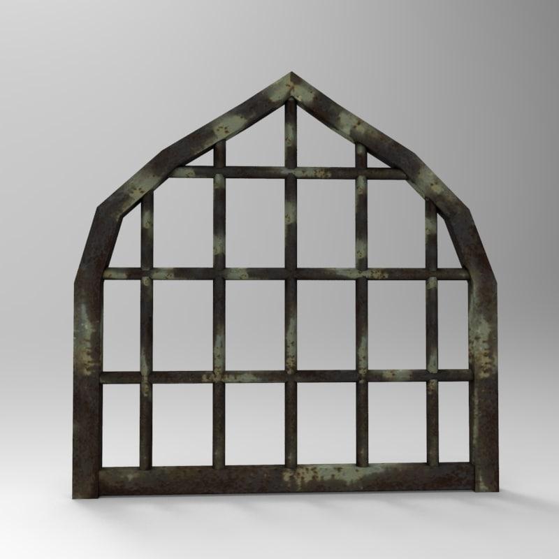 3d model metal gate