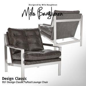 3d 951 design classic tufted model
