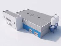 industrial building 05 3d model